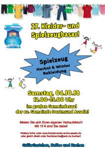 Kleider und Spielzeugbasar ARCHE Kindergarten Dortmund